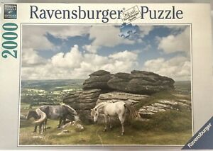 Ravensburger Horses in Dartmoor National Park 2000 Piece Puzzle Jigsaw