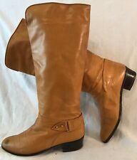 Roland Cartier Beige Knee High Leather Lovely Boots Size 40 (129v)