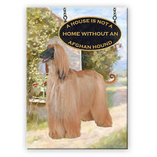 Afghan Hound A House Is Not A Home Fridge Magnet Dog