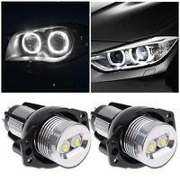 2Pcs Angel Eye LED Light Halo Ring Bulb 6W Error Free for BMW E90 E91 3 Series