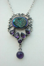 Handmade Oval Amethyst Stone Costume Necklaces & Pendants