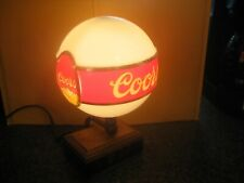 """Vintage Adolph Coors 10"""" Lighted Globe & Led Clock Beer Sign Rare"""