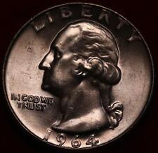 Uncirculated 1964-D Denver Mint Silver Washington Quarter