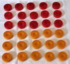 Vintage Catalin Checkers set of 30 Bakelite Red & Butterscotch 3.6cm x 1cm