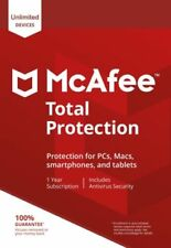 McAfee Total Protection Antivirus Software 2020 1 / 2 / 3 Years Unlimited Emali