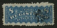 Canada 1878 Registered 8c dull blue #F3 used