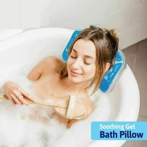 Relaxation Bath Pillow with Gel - For Calming & Easing Compress Blue
