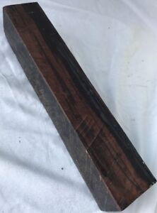 Macassar Ebony Hardwood 2.25x2.25x12 Cue Building Turkey Calls Box Making Timber