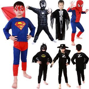 Kids Boys Girls Superhero Spiderman Fancy Dress Cosplay Party Costume Outfits UK