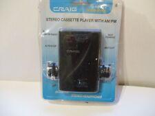 Craig Stereo Cassette Player Amfm Radio with Headphones Jh6222