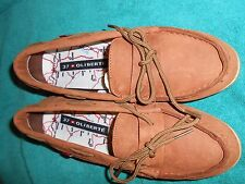 Oliberte brown nubuck Niami leather boat shoes flats display size 7M New no box