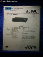 Sony Service Manual SEQ D705 Graphic Equalizer (#6660)