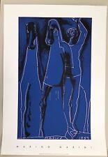 MARINO MARINI,'COMPOSIZIONE IN BLU,1953' RARE 1998 SILKSCREEN PRINT