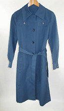 VTG 70's Forecaster by Boston Womens Sz 7/8 Polyester Steel Blue Trench Coat