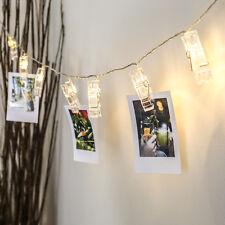 2M BATTERY POWERED WEDDING BEDROOM PHOTO CLIP HOLDER LED FAIRY STRING PEG LIGHTS