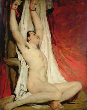 Etty William Male Nude With Arms Stretched Up Print 11 x 14  #3801