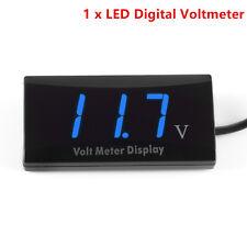 Car 12V Ultra Thin Slim Digital Blue  LED Display Voltage Meter Voltmeter Panel