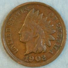 1902 Indian Head Cent Vintage Penny Old US Coin Liberty Full Rims Fast S&H 509