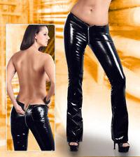 """Vernis Pantalon L 44 46 Black Level Zip Noir Wetlook Brillant Jeans Femmes PVC """"Arlai"""""""