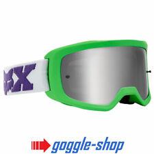 Fox Main II X Motocross MX Lunettes Argent Allumage Lentille - Linc Vert Blanc