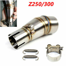 Stainless Steel Motorcycle Exhaust Middle Pipe Link Muffler Mid Section Adapter