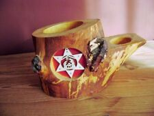 @Christmas@ Tealight Holder from One Tree Trunk, Handmade, Marquetry