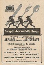 Z2184 Argenteria Wellmer - Posate argentate - Pubblicità d'epoca - Advertising