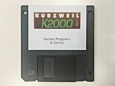 KURZWEIL K2000 - Factory Programs & Demos floppy disk. K2000r  K2500 K2600 reset