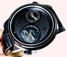 Titan Dual Quartz India Unique Designer Black Dial Steel Watch Men's Watch 46mm