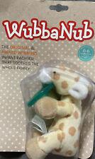 WubbaNub Infant Pacifier, Plush Giraffe, 0-6 Months, New LOWEST $
