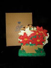 Vintage NIB Avon CHRISTMAS BLOSSOMS NAPKIN HOLDER in Original Box