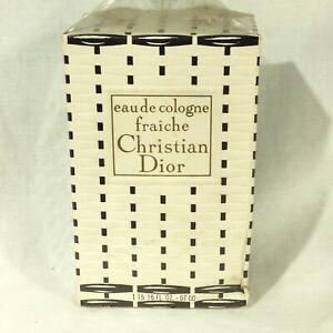 Vintage RARE 1970s Dior Fraiche SEALED 1.9 oz 57 ml Eau de Cologne OLD FORMULA