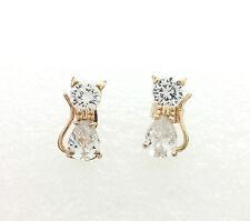 Hypo-allergenic Stud For Sensitive Ears Cubic Zirconia Bowtie Cat Earrings 10