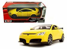MOTOR MAX 1:18 2003 HONDA ACCORD CUSTOM TUNER Diecast Car Yellow Color 73146