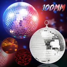 Glitter Lightweight Sliver Mirror Disco Dance Party DJ Ball Mirrored Glass 100mm