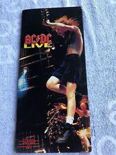 AC/DC LIVE CD LONG BOX 1992 Atco 7 92215-2 w/ Poster & Dollar Thunderstruck MINT