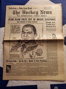 THE HOCKEY NEWS Vol.12 No.19 February 7, 1959  Stan Mikita Cartoon Cover