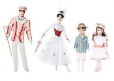 Disney MARY POPPINS Bert Jane Michael NEW IN BOXES Barbie Ken Collector Doll Set