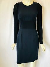 BURBERRY London navy blue long-sleeve sheath dress Size 8 silk