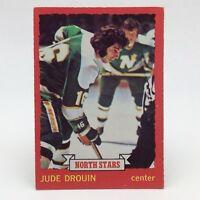 1973 74 OPC Pee Chee Jude Drouin 125 Minnesota North Stars Ice Hockey Card E607