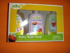 Sesame Street Baby Bath Pack Set Shampoo Lotion Grooming Travel Bottles Infants