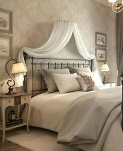 Bed Canopy Crown Coronet Adult Pure Cotton French Muslin White Fits ALL beds