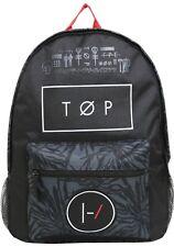 21 Twenty One Pilots Top Band Backpack Book Bag Blurryface Design New!