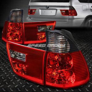 FOR 00-06 BMW X5 E53 RED/SMOKED LENS TAIL LIGHT REAR BRAKE REVERSE LAMPS 4PCS
