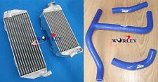 FOR Suzuki RMZ250 RMZ 250 2010-2012 2011 10 11 12 aluminum Radiator + blue HOSE