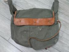 vintage ARMY military RUCKSACK bag LEATHER & CANVAS duffle messenger bicycle