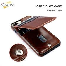 Card Holder Leather Vertical Flip Case Retro Cover Mobile Phone Pouch Wallet
