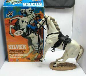 Vintage 1973 Marx Lone Ranger SILVER - Boxed - (1626)