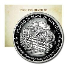 Netherlands Antilles Coronation of Queen Juliana 25 Gulden 1973 Silver Proof