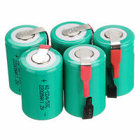 Lot of 10 PCS Green Color 4/5 Sub C 1.2V 2200mAh NiCd Rechargeable Batteries